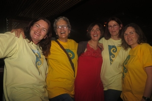 Eleanor and some of the Soundwaves volunteers