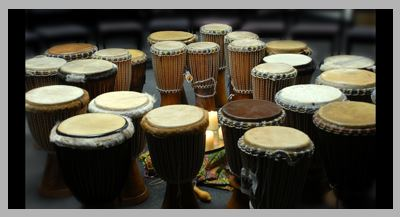 Tribal drums.