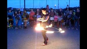 Fire juggler