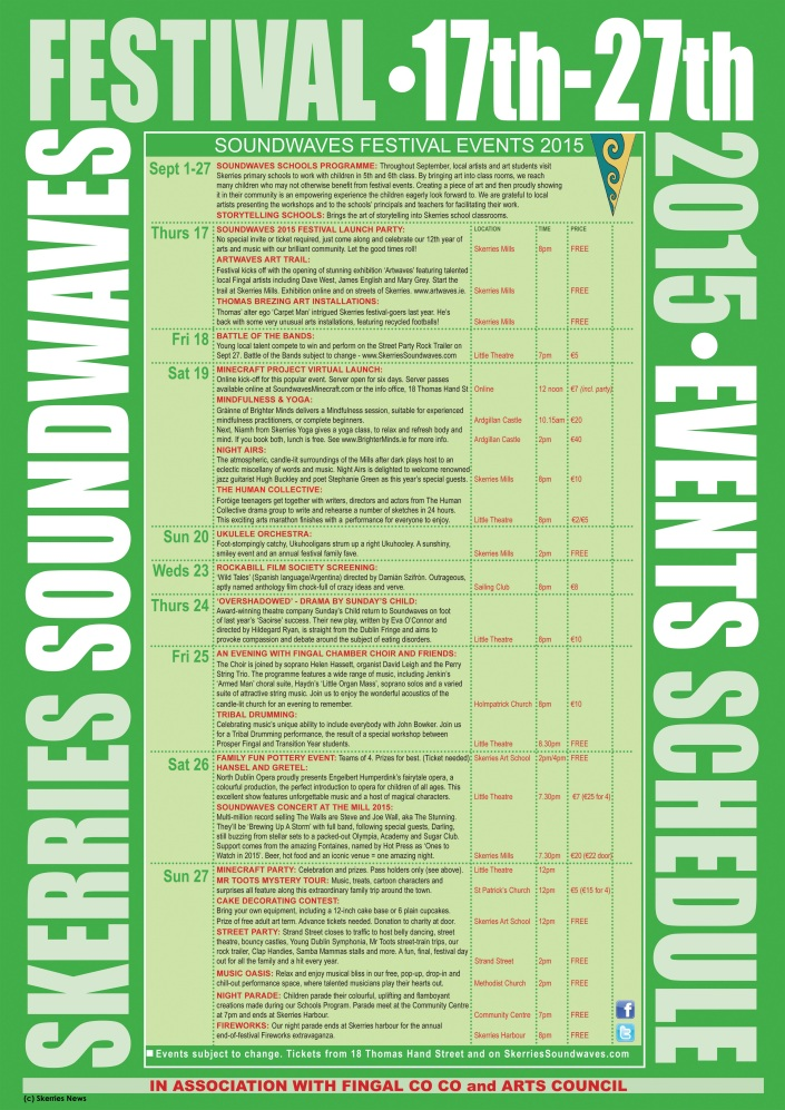 Skerries Soundwaves 2015 Programme